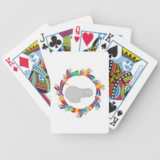 Hippo Stars Bicycle Playing Cards