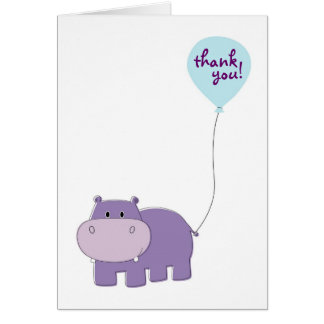 Hippo Thank You Cards