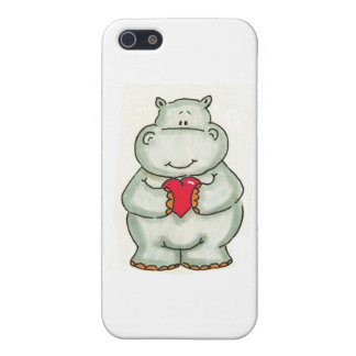 Hippo with Heart Case For The iPhone 5