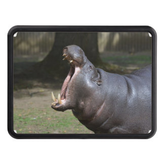 Hippo with His Mouth Open Trailer Hitch Cover