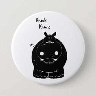 Hippo with quote 3 inch round button