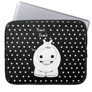 Hippo with quote laptop sleeve