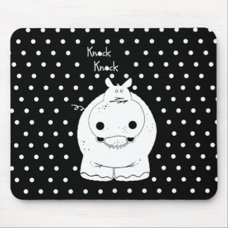 Hippo with quote mouse pad