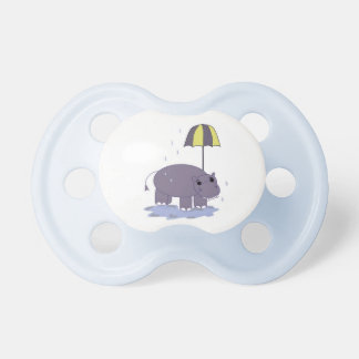 Hippo with Umbrella Pacifiers