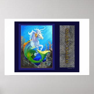 Hippocampus Sea Horse Dragon Poster