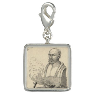 Hippocrates on Pedestal Charms