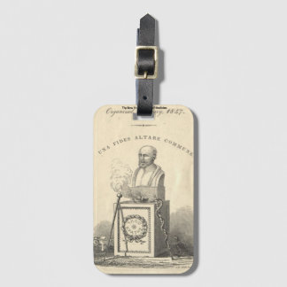 Hippocrates on Pedestal Luggage Tag