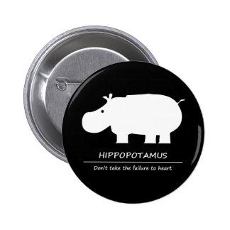 Hippopotamus 2 Inch Round Button