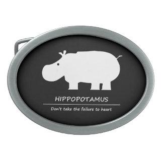 Hippopotamus Belt Buckle