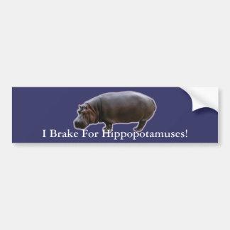 Hippopotamus Bumper Sticker