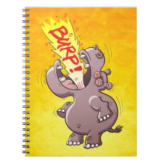 Hippopotamus Burping Loudly Notebooks