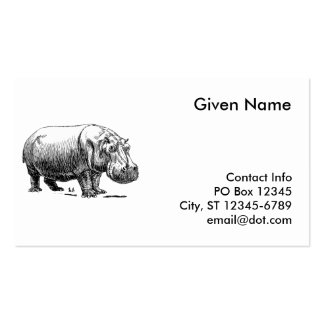 Hippopotamus Business Card