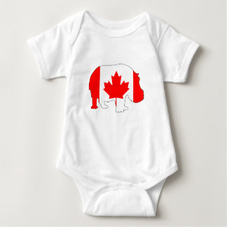 Hippopotamus Canada Baby Bodysuit
