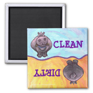 Hippopotamus Dirty / Clean Dishwasher Magnet