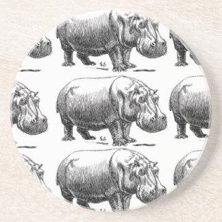hippopotamus gold coaster
