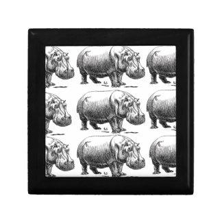 hippopotamus gold gift box