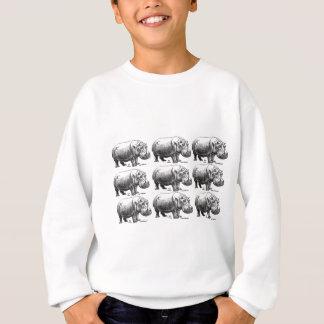 hippopotamus gold sweatshirt
