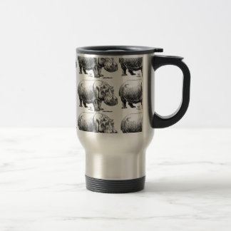 hippopotamus gold travel mug