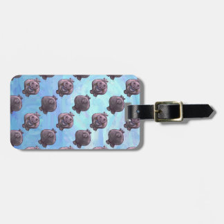 Hippopotamus Heads and Tails Patterns Luggage Tag