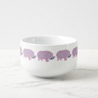 Hippopotamus Hipster Soup Mug