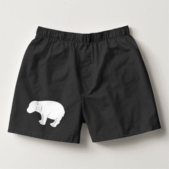 Hippopotamus in Silhouette Boxers