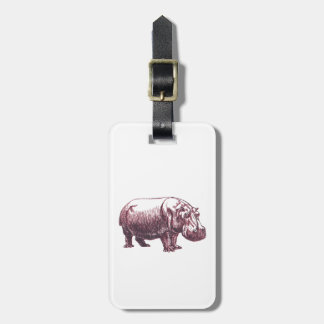 Hippopotamus Luggage Tag