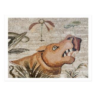 Hippopotamus, Nile mosaic, House of the Faun Postcard