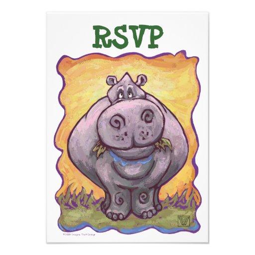 Hippopotamus Party Center Announcement