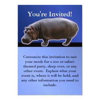Hippopotamus Party Invitation