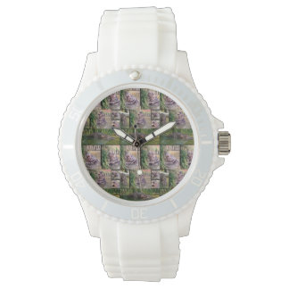 Hippopotamus Photo Collage, Ladies Sports Watch