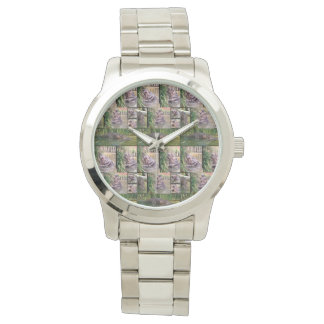 Hippopotamus Photo Collage, Large Unisex Watch