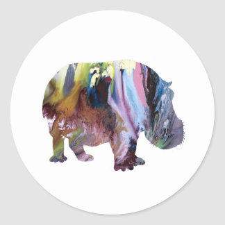 Hippopotamus Round Sticker