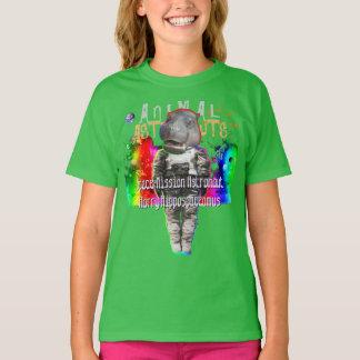 Hippopotamus Space Astronaut T-Shirt