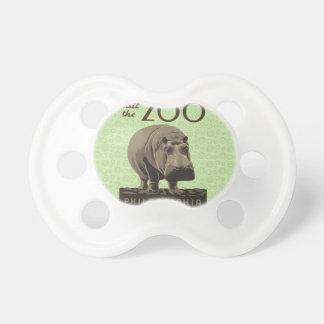 Hippopotamus Vintage WPA Zoo Poster Philadelphia Baby Pacifier