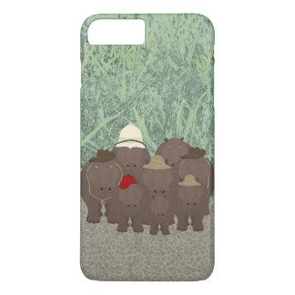 Hippos Apple iPhone 8 Plus/7 Plus, Phone Case