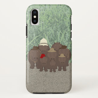 Hippos Apple iPhone X, Tough Phone Case