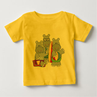 Hippos at the Beach Tshirts and Gifts