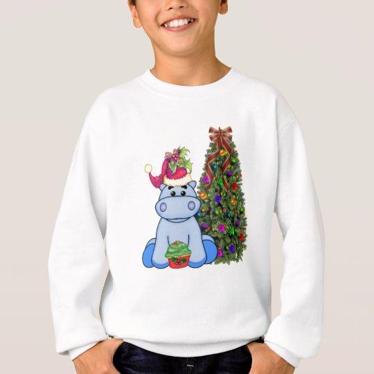 Hippo's Christmas Sweatshirt