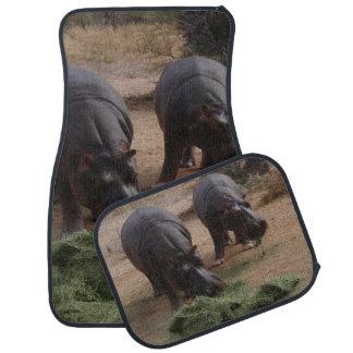 hippos floor mat
