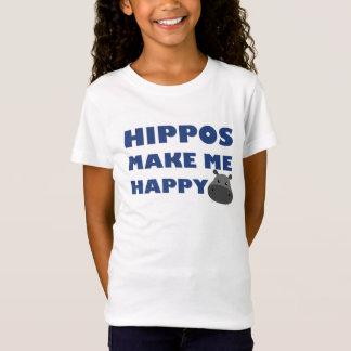 Hippos Make Me Happy T-Shirt