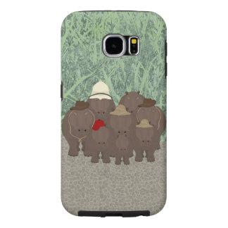 Hippos Samsung Galaxy S6, Tough Phone Case