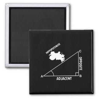 Hippotenuse Hypotenuse Hippo Trig Math Teacher Magnet