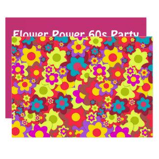 Hippy 60s retro party theme card