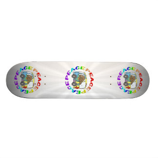 hippy and van with peace skate decks