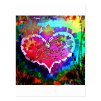 Hippy at Heart Rainbow Tie Dye gift collection Postcard