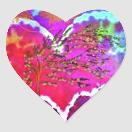 Hippy at Heart Rainbow Tie Dye gift collection Heart Stickers