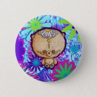 Hippy Bear 2 Inch Round Button