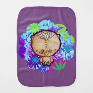 Hippy Bear Burp Cloth