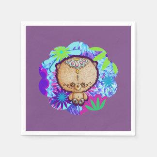Hippy Bear Paper Napkins