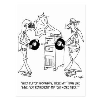 Hippy Cartoon 7597 Postcard